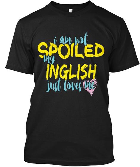 Inglish  Black T-Shirt Front
