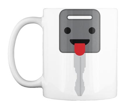Mug   Car Key Emoji Tongue Out White Mug Front