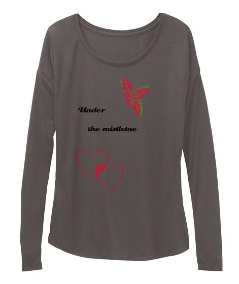 Under The Mistletoe Dark Grey Heather T-Shirt Front