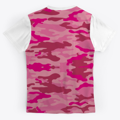 Battle For Boobs | Pink Camo Tee Standard T-Shirt Back