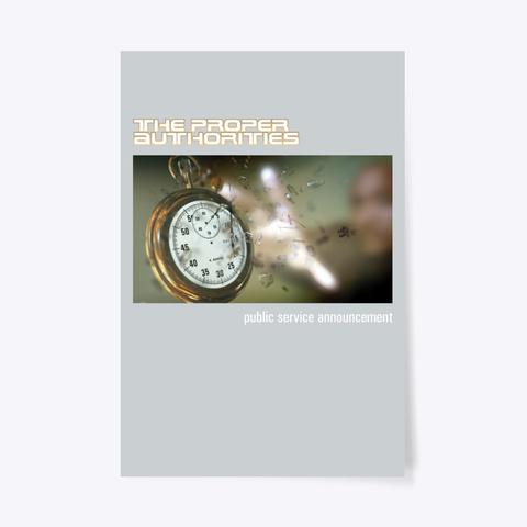 Public Service Announcement Cover Art 1 Light Grey T-Shirt Front