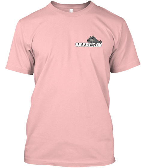 Dreddgin Pale Pink T-Shirt Front