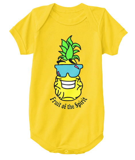 Baby Onesie Yellow  T-Shirt Front