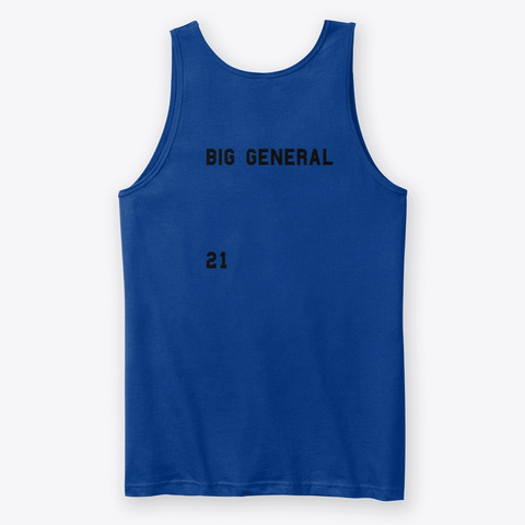 Big General True Royal T-Shirt Back