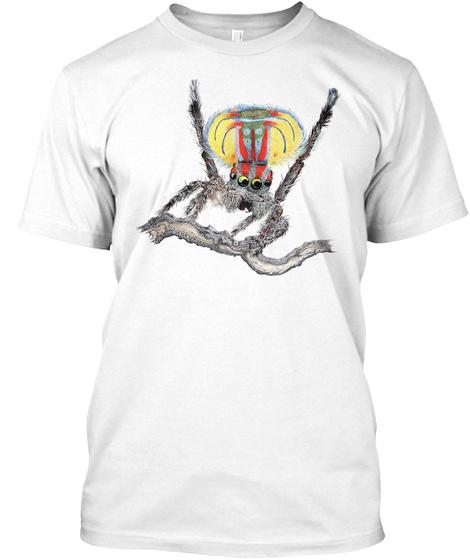 Maratus Volans  White T-Shirt Front