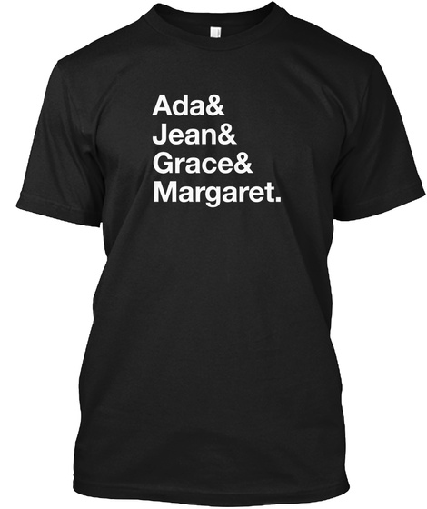 Ada Jean Grace Margaret Black T-Shirt Front