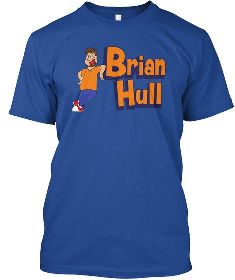 Brian Hull Deep Royal T-Shirt Front