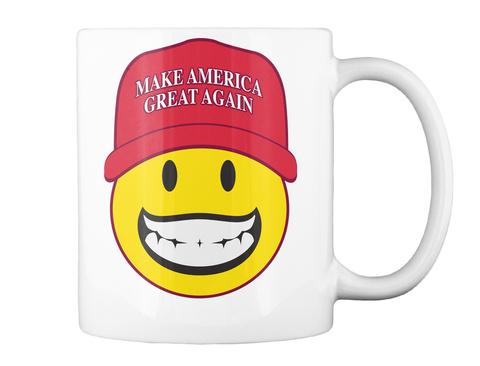 Smiley  Maga Mug White Mug Back