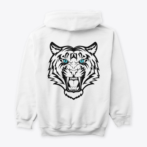 White Tiger V3 White T-Shirt Back