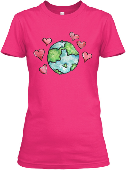Love Earth Day Art Artistic Tee Shirts Heliconia Women's T-Shirt Front