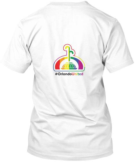 #Orlando United White T-Shirt Back