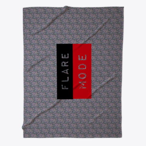 Fibro Flare Blanket Dark Grey T-Shirt Front