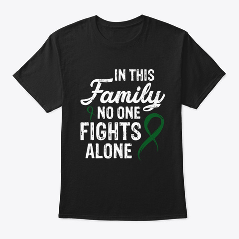 No One Fights Alone Eye Cancer V2 Tee Black T-Shirt Front