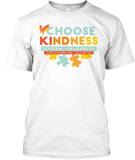 Choose Kindness Autism Awareness White T-Shirt Front
