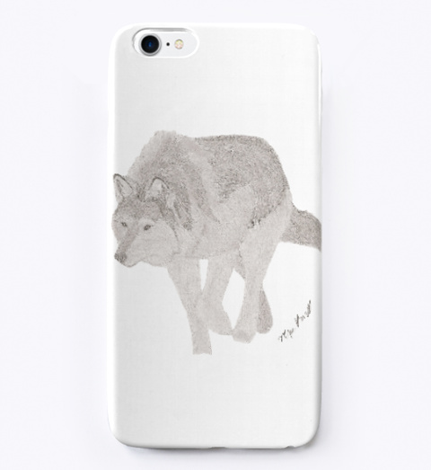 Mya's Designs Stalking Wolf Phone Case Standard T-Shirt Front