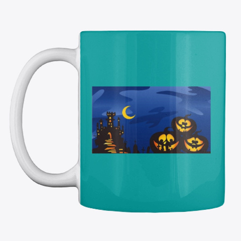 Halloween Mugs Aqua T-Shirt Front