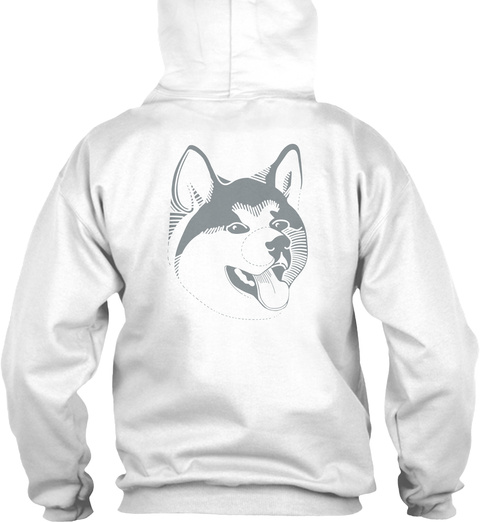Husky Hoodie Ellesson Arctic White T-Shirt Back
