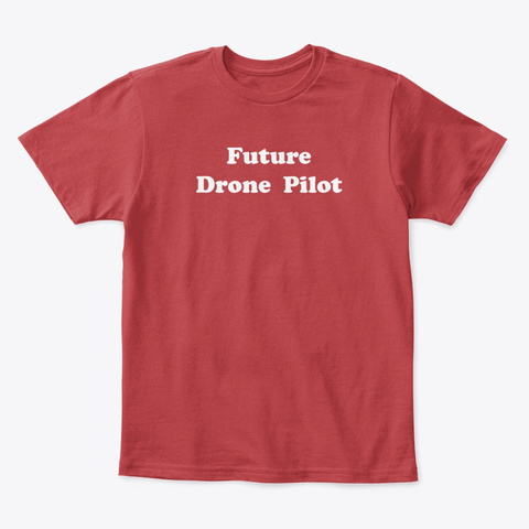 Kids Future Drone Pilot Tee Classic Red T-Shirt Front