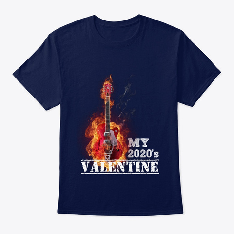 Valentine Special T Shirt For Musician's Navy T-Shirt Front