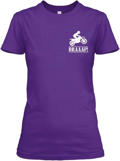 Braaap! Purple T-Shirt Front