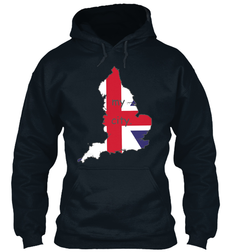 England Is My Capuche City 4 - N/a Sweat à Capuche My Confortable 554a04
