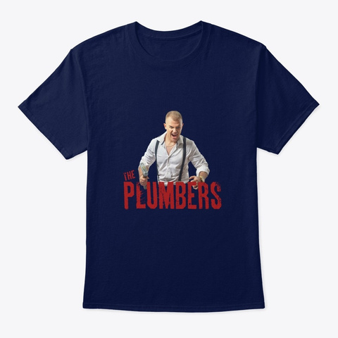 The Plumbers Pierce Tee Navy T-Shirt Front