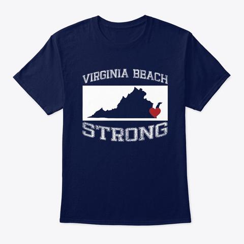 Virginia Beach Strong T Shirt Navy T-Shirt Front