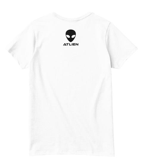 Atlien White  T-Shirt Back
