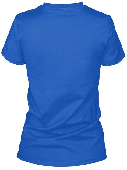Ruth Bader Ginsburg Royal T-Shirt Back
