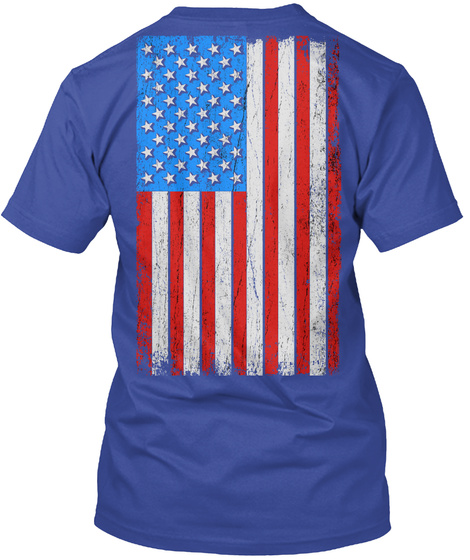 Ruger: A Family Of Heroes Deep Royal T-Shirt Back