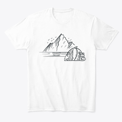 Tent Camping Rocky Mountains And Lakes White T-Shirt Front