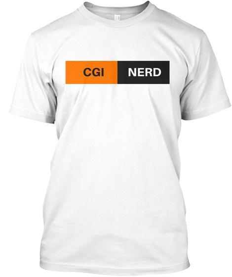 Cgi Nerd White T-Shirt Front