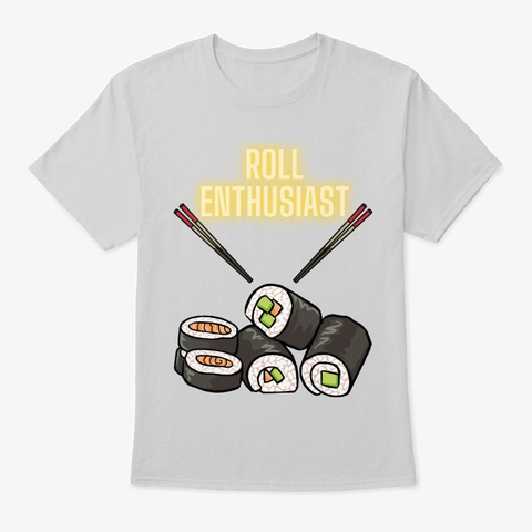 Roll Enthusiast Light Steel T-Shirt Front