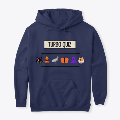 Turbo Quiz Collection   Animals Navy T-Shirt Front