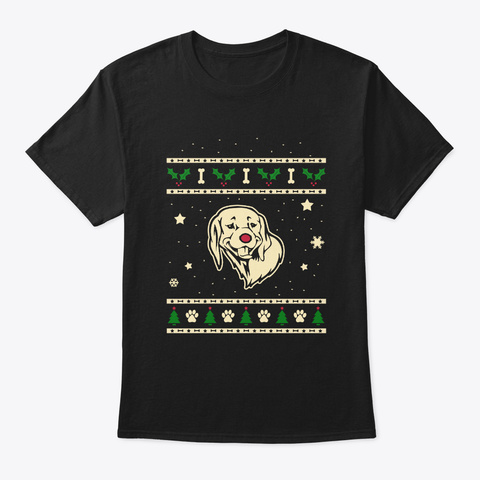 Christmas Braque Du Bourbonnais Gift Black T-Shirt Front