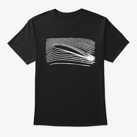 The Airfoil Art Shirt Black T-Shirt Front