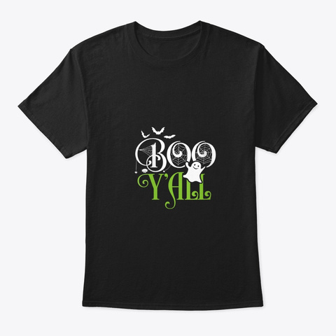 Womens Boo Y'all Funny Halloween Costume Black T-Shirt Front