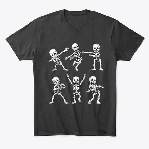Dancing Skeletons Dance Challenge Black T-Shirt Front