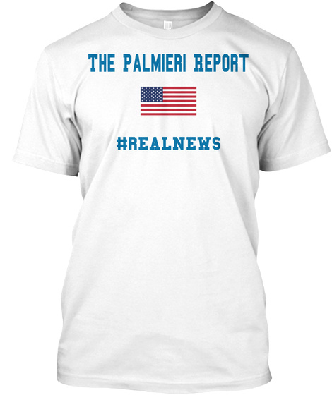 The Plamieri Report Realnews White T-Shirt Front