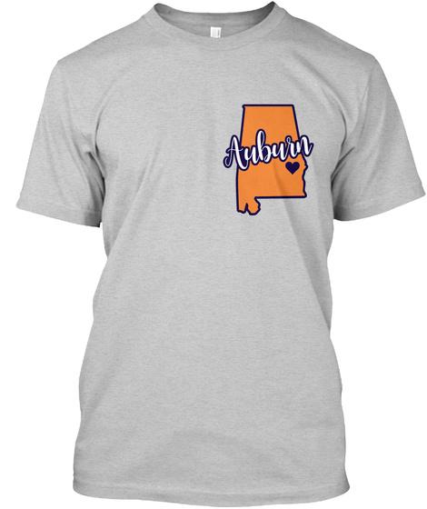 Auburn Dots Circle  Light Steel T-Shirt Front