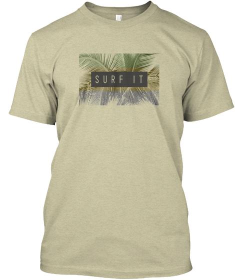 Men's Surf T Shirt Oatmeal T-Shirt Front
