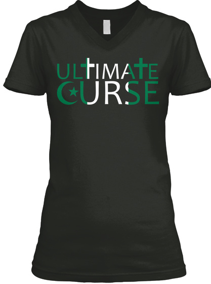 The Ultimate Curse On Mankind Black T-Shirt Front