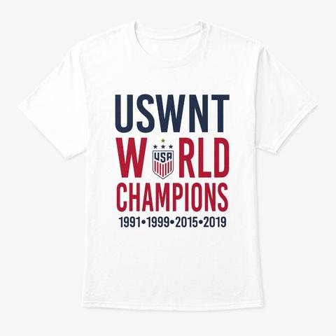 Usa Women Soccer World Champions 2019 White T-Shirt Front