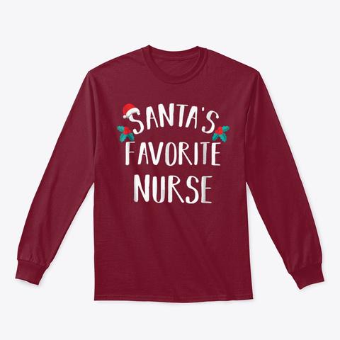 Santa's Favorite Nurse Shirt Funny Nurse Cardinal Red T-Shirt Front