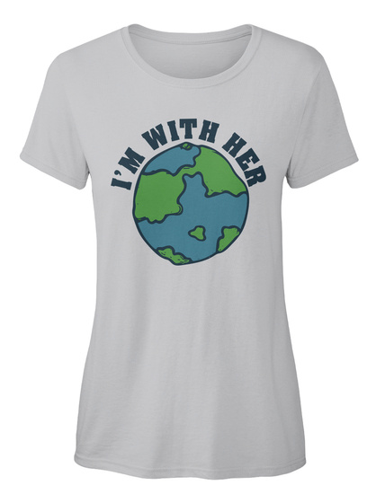 I'm With Her Sport Grey Camiseta Feminina Front