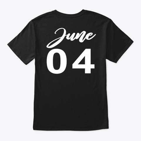 June 4   Gemini Black T-Shirt Back