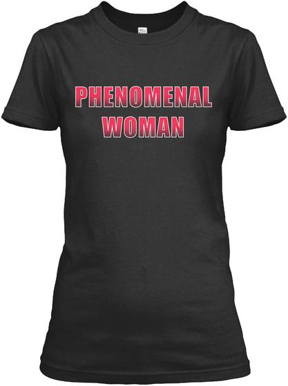 Phenomenal Woman Black T-Shirt Front