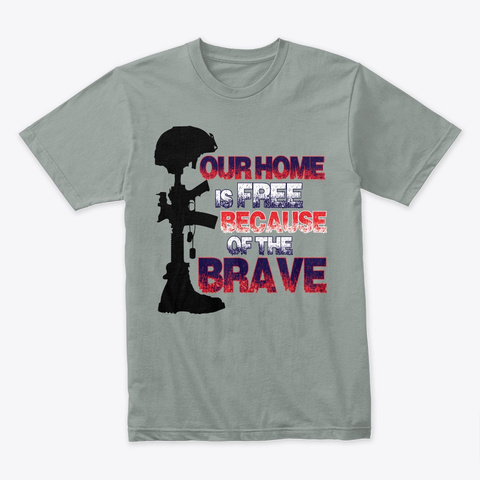 Honor The Brave Warm Grey T-Shirt Front