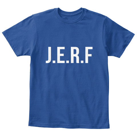 J.E.R.F Deep Royal  T-Shirt Front