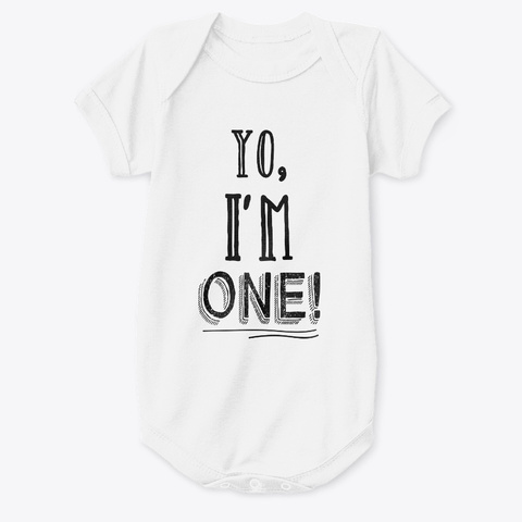 YoIm One Kids Shirt 1st Birthday White T